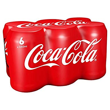 Coke Cans Case of 6
